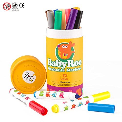 Jar Melo Washable Markers Set; 12 Colors; Non-Toxic; Art Tools ()