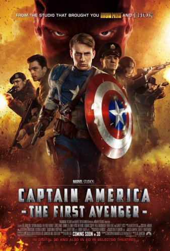 CAPTAIN AMERICA MOVIE POSTER 2 Sided ORIGINAL INTL 27x40 CHRIS EVANS