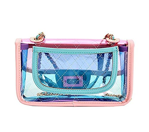 sac PVC main Women 's Color sac Cross à Sac Transparent Green Summer main embrayage bandoulière main sac à à à Gelée HXnYHxTz