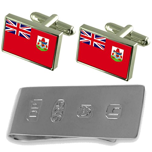 Money Clip Bermuda Bermuda amp; Flag James Flag Cufflinks Bond v01ww8q