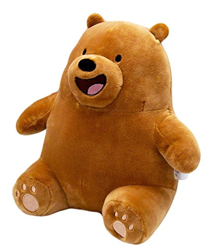 We Bare Bears Cartoon Character Stuffed Animals Grizzly Sitting Teddy Bear Gift from We Bare Bears