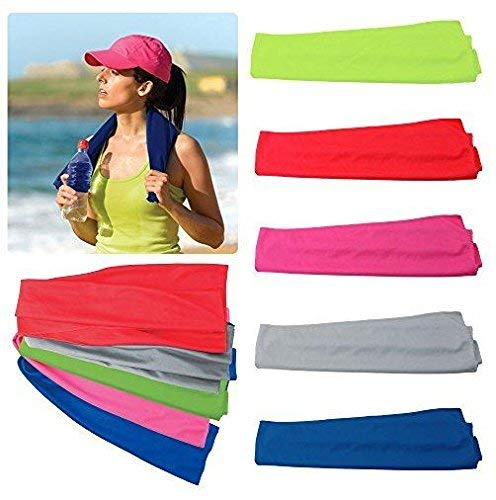 Very Kool Cooling Towel - Set of 5 Included (Blue, Red, Green, Pink, Gray) 34