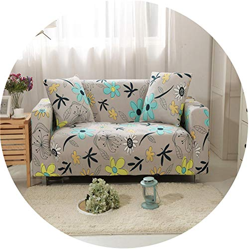 Gray Yellow Spots Messy Elastic Sofa Cover for Living Room Sofa Slipcovers,5,1Pc Cushion Covers (Nc Charlotte Furniture Outdoor)