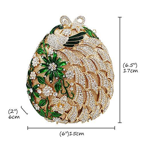 Sera Sposa Fiore Gold Cerimonia Spalla Donna Eleganti Partito Portafoglio Borsa Borsetta Frizioni Pochette 5BPOWAqRR