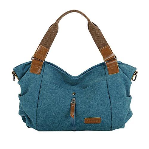 LA HAUTE - Bolso al hombro para mujer, azul (Azul) - LHTE-61 azul