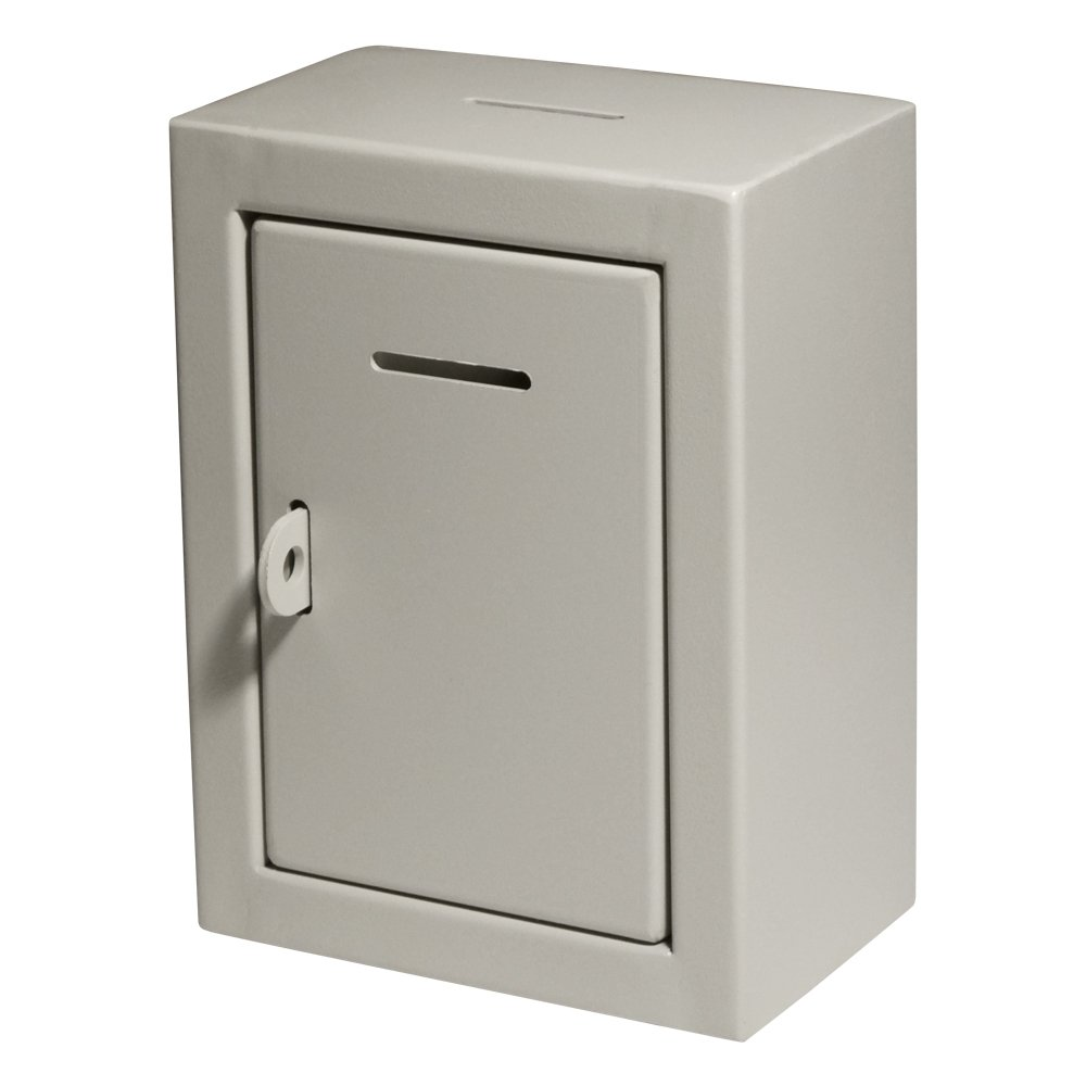 MCB - Classic Metal Box - Donation Box - Comment Box - Secure Collection Box - Ballot Box - Ticket Box - Easy Wall Mounting,(Lock with Padlock Not Included)