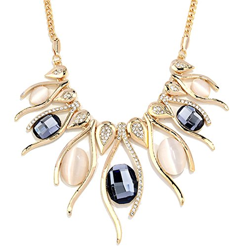 [ALot Crystal Necklace Short Sweater Chain Opal Pendant High-end Clothing Europe Style(G4)] (Titanic Costumes Ideas)