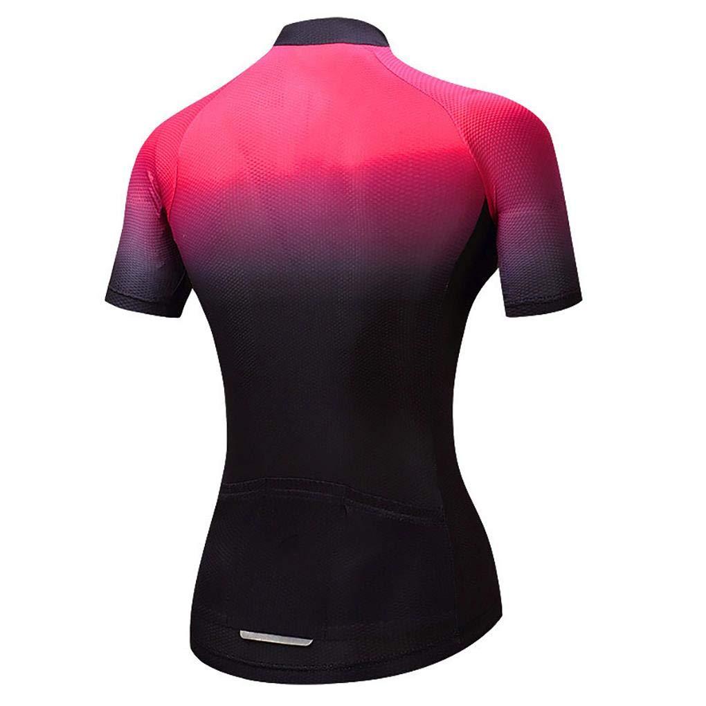 Men/'s Cycling Jersey Bike Riding Shirt Tops with Reflective Zip Pocket S-XXXL