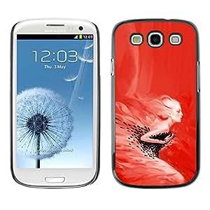Caucho caso de Shell duro de la cubierta de accesorios de protección BY RAYDREAMMM - Samsung Galaxy S3 - Red Mujer - Pop Art