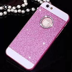 LCJ Solid Luxury Bling Glitter Cover Case with Back Hole for iPhone 4/4S(Assorted Colors) , Golden