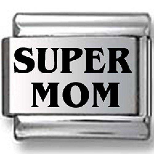 SUPER MOM Laser Italian Charm