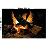 lepni.me Wall stiker Fire for large Fireplace fireplace wall sticker fireplace decal wall art decals