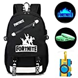 Gash Hao Fortnite Luminous Backpack Student College School Bookbag USB Charging Travel Computer Bag