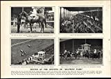 Opening Belmont Park Horse Racing 1905 vintage newsprint sheet paper offers