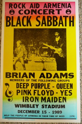 Black Sabbath with Brian Adams At Wimbley Stadium Poster ()