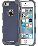 5s bumper navy - iPhone SE Case, iPhone 5S Case, iPhone 5 Case, BENTOBEN Slim Shockproof Hybrid Dual Layer Hard Bumper Anti-scratch Protective Case for iPhone 5/5S/SE, Navy Blue/Gray