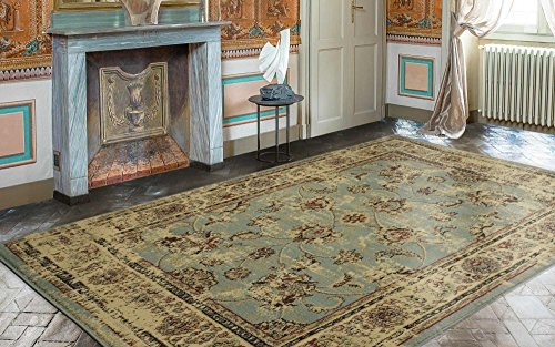 Ottomanson Royal Collection Distressed Oriental Floral Design Area Rug, 7'10