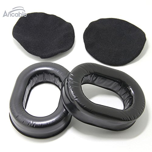 Ancable Comfort Gel Undercut Ear Seals for David Clark Avcomm Pilot-USA ASA Flightcom Aviation Headsets with Deluxe Cloth Ear Seal Covers