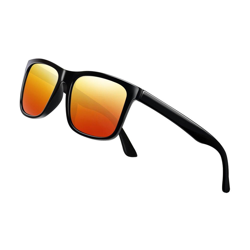 Polarized Sunglasses for Men TR90 Unbreakable Mens Sunglasses Driving Sun Glasses For Men/Women by Lekesn