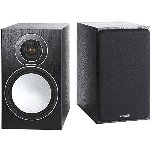 Monitor Audio Silver 1 - Par de caixas acústicas Bookshelf 2-vias para Home Theater Preto