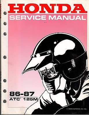 1986-1987 HONDA ATV ATC 125M SERVICE MANUAL USED (872)