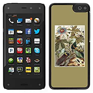 """Pulsar Snap-on Series Teléfono Carcasa Funda Case Caso para Amazon Fire Phone 4.7 , Oro floral Campo Flores de verano"""""""