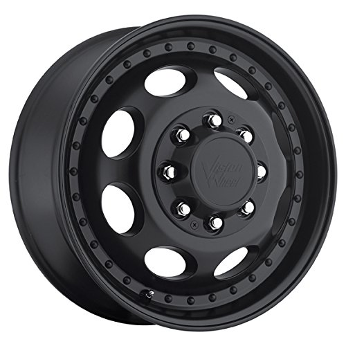 Vision 181 Hauler Dually Front 16×6 8×170 +115mm Matte Black Wheel Rim