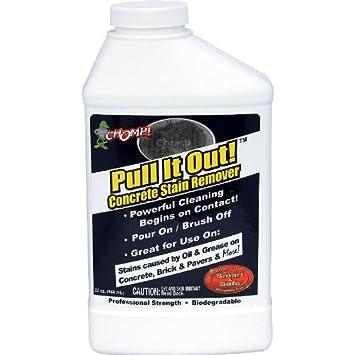 Concrete Stain Remover >> Amazon Com Chomp Pull It Out Concrete Stain Remover 32oz