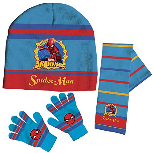 Set gorro bufanda guantes Spiderman Marvel,1unidades por pedido kids
