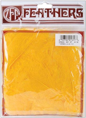 ZUCKER Feather (TM) - Loose Turkey Marabou Dyed - Gold