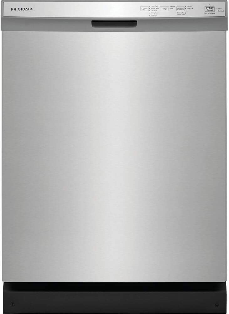 """Frigidaire 24"""" Stainless Steel Built-In Dishwasher"""