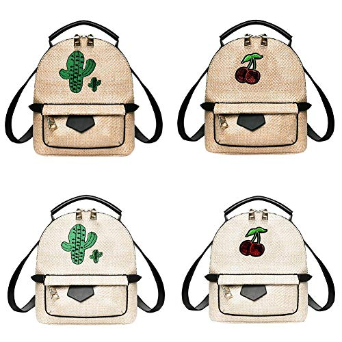 Mochilas Mini School Mujeres Woven Girls Handbags Backpacks Travistar Casual Shoulder Bolsos Straw Widewing Mujer Retro Teen 7AOzn