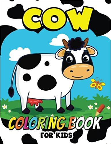 Cow Coloring Book for Kids: Animal Coloring for boy, girls, kids ...
