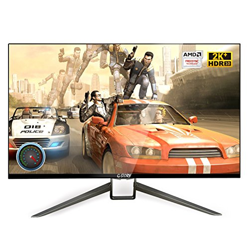 Price comparison product image G-STORY 27 Inch HDR 144Hz 1ms WQHD 2560X1440P Eye-Care Gaming Monitor With FreeSync, HDMI Cable, Built-in Stereo Speaker, UL Certificated AC Adapter