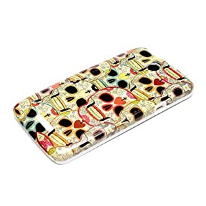 deinPhone AR-160024 - Carcasa para HTC One X/XL X+ Plus, diseño de calaveras, multicolor