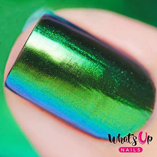 - Whats Up Nails - Rainforest Powder Magic Color Shifting Pigment with Multi Chrome Mirror Effect