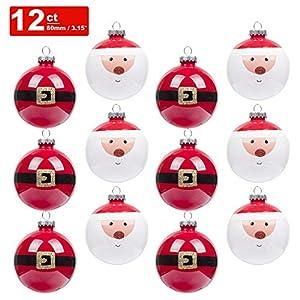 KI Store Christmas Tree Decorations Decorative Ball Ornaments Hanging Decor 11