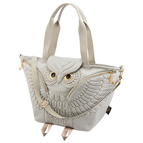 MORN CREATIONS, Borsa tote donna Light Grey (803)