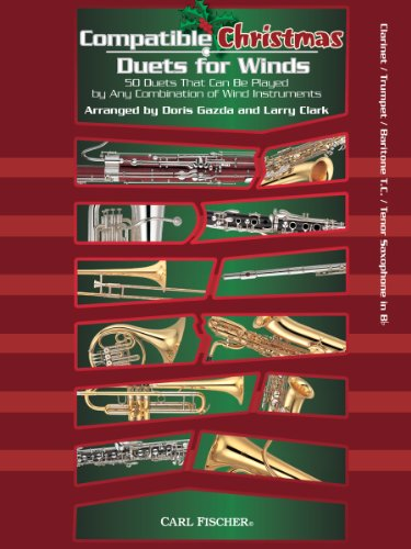 WF149 - Compatible Christmas Duets for Winds - Clarinet / Trumpet / Baritone T.C. / Tenor Saxophone (Christmas Tenor Trumpet)