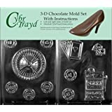 Cybrtrayd J101AB Casino for Specialty Box Chocolate Candy Mold Bundle with 2 Molds and Exclusive Cybrtrayd Copyrighted 3D Chocolate Molding Instructions