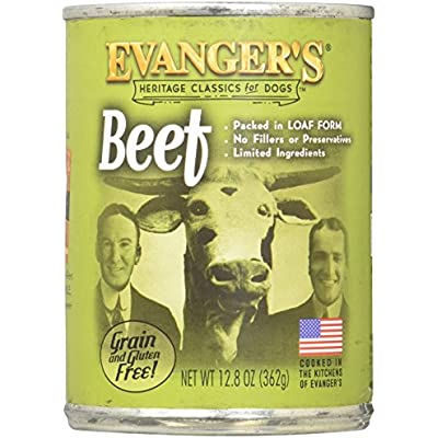 Evanger's All Natural Classic Beef Canned Dog Food - 12.8 oz. (Set of 12)