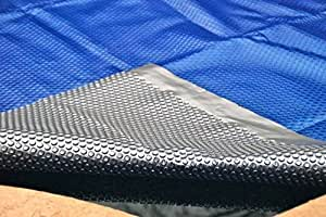 Heat Force 24' Foot Round Space Age Solar Blanket Solar Cover for Above Ground Pools 12-mil Premium
