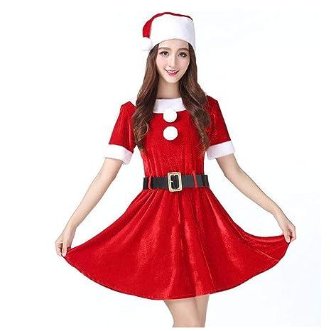 HUAN Nuovo Costume Uniforme di Natale Costume da Babbo Natale (Colore    Rosso a2f974b8cef