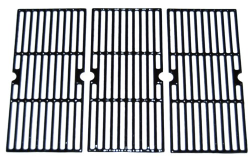 Matte Cast Iron Cooking Grid Replacement for Select Gas Grill Models by Centro, Charbroil and Others, Set of 3 (Bar Patio Kmart Set)