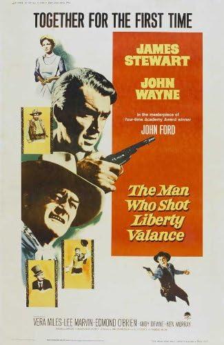 Amazon.com: The Man Who Shot Liberty Valance Movie Poster (27 x 40 Inches -  69cm x 102cm) (1962) Style B -(James Stewart)(John Wayne)(Vera Miles)(Lee  Marvin)(Edmond O'Brien)(Andy Devine): Prints: Posters & Prints