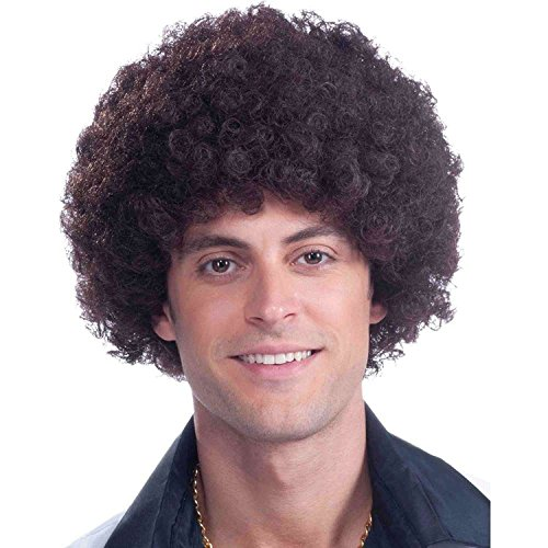 [Brown Afro Wig By: Bliss Professionals] (70s And 80s Party Costumes)