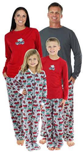 SleepytimePjs Family Matching Holiday Fleece Pajamas PJs Sets for The Family-Infant (STMF-3025-I-3170-0-3M) (Matching Holiday Pajamas)