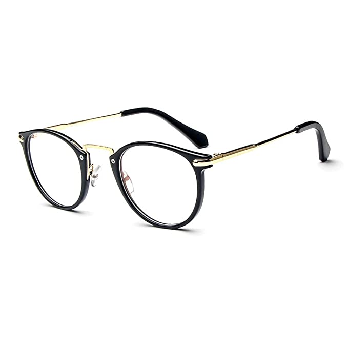 98d94b12c7 LOMOL Fashion Korean Personality Student Style Transparent Lens Frame  Glasses For Men Women(C1)