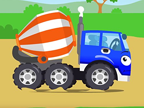 Small Concrete Mixer and Tow Truck