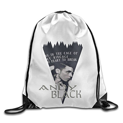 The Halloween Costume Office Andy's (YYHU Andy Six Biersack ANDY BLACK PROFILE Musician Home Travel Sport Storage Use - Great For Travel And Everyday)